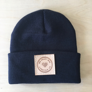 WHW Lifestyle Toque | Natural on Navy