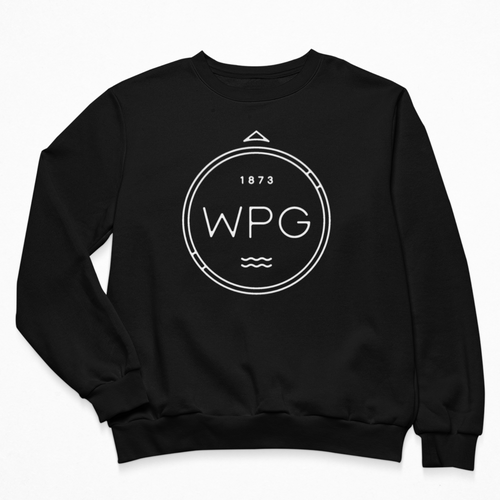 WPG Compass Crewneck | White on Black