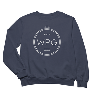 WPG Compass Crewneck | White on Navy