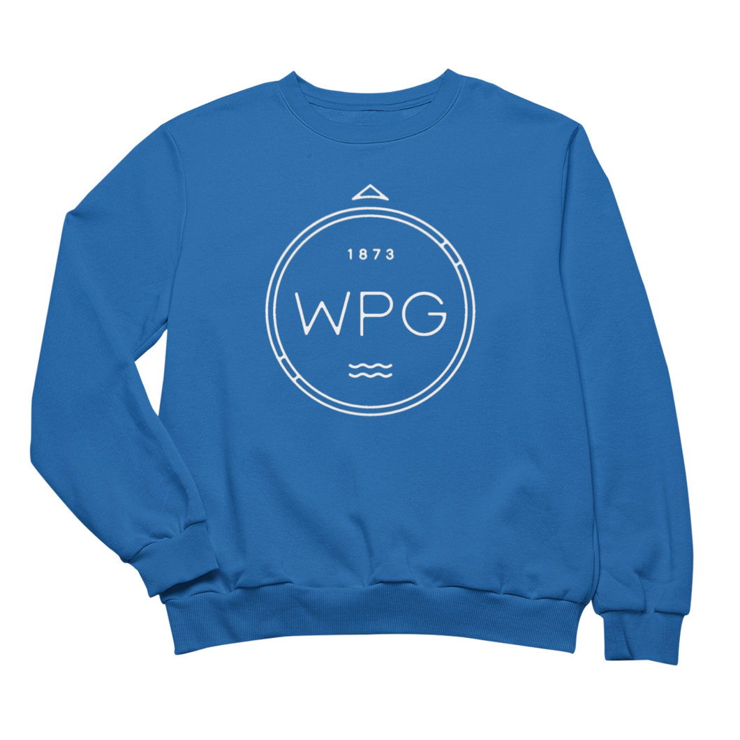 WPG Compass Crewneck | White on Royal