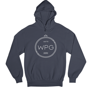 WPG Compass Hoodie | White on Navy