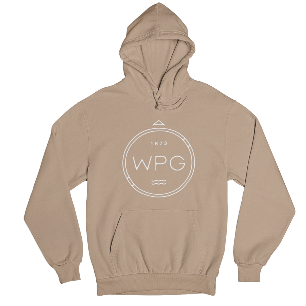 WPG Compass Hoodie | White on Sandstone