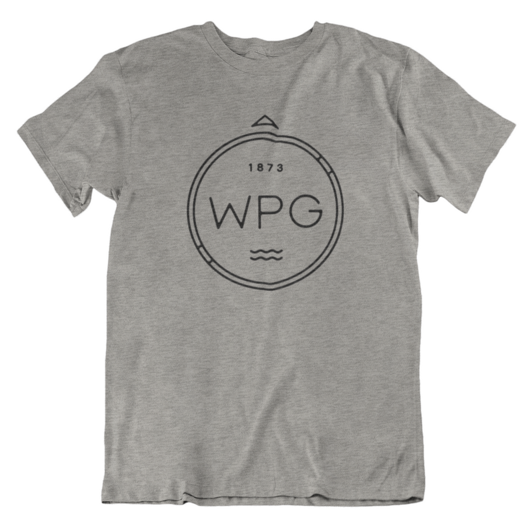 WPG Compass Tee | Black on Athletic Grey