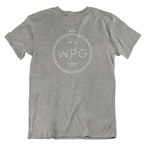 WPG Compass Tee | White on Athletic Grey