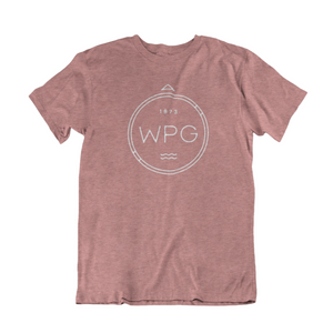 WPG Compass Tee | White on Heather Mauve