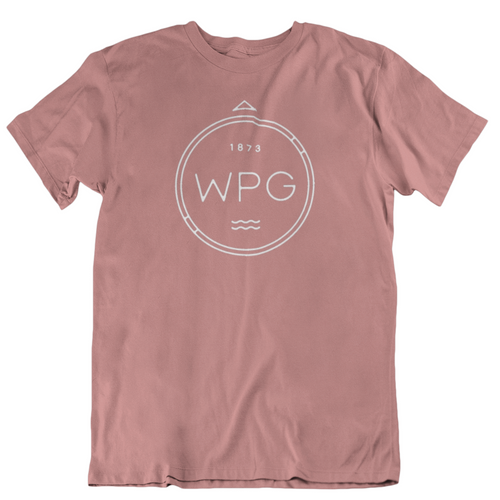 WPG Compass Tee | White on Mauve