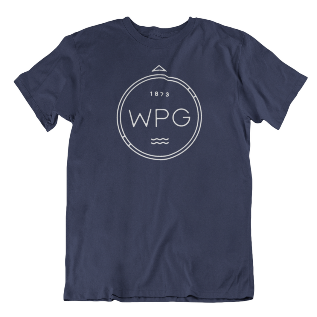 WPG Compass Tee | White on Navy