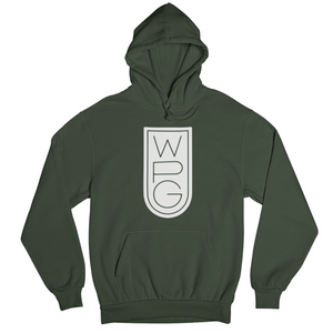 WPG Crest Hoodie | White on Forest Green