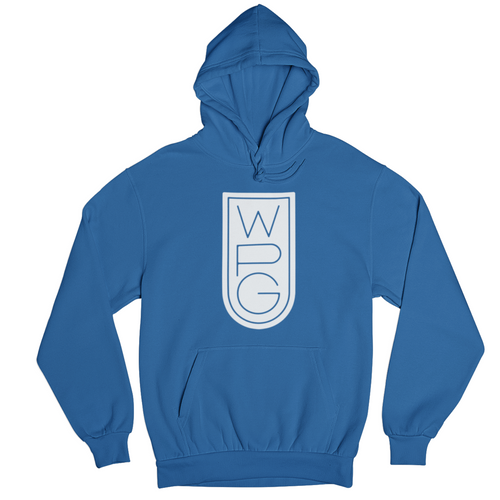 WPG Crest Hoodie | White on Royal