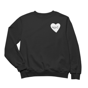 WPG Heart Crewneck | White on Black
