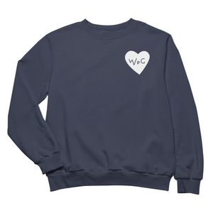 WPG Heart Crewneck | White on Navy