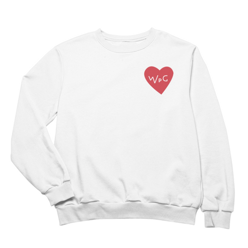 WPG Heart Crewneck | Red on White