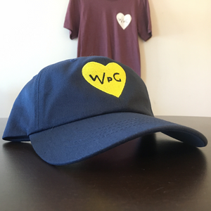 WPG Heart Dad Hat | Yellow on Navy