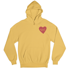 WPG Heart Hoodie | Red on Gold