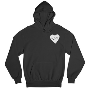 WPG Heart Hoodie | White on Black