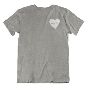 WPG Heart Tee | White on Athletic Grey