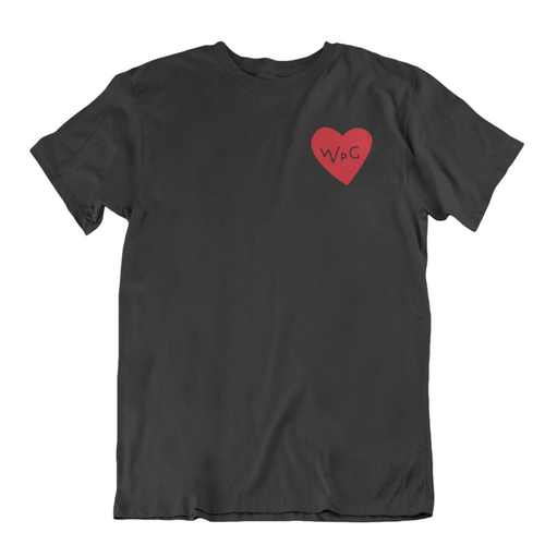 WPG Heart Tee | Red on Black
