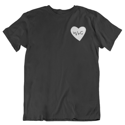WPG Heart Tee | White on Black