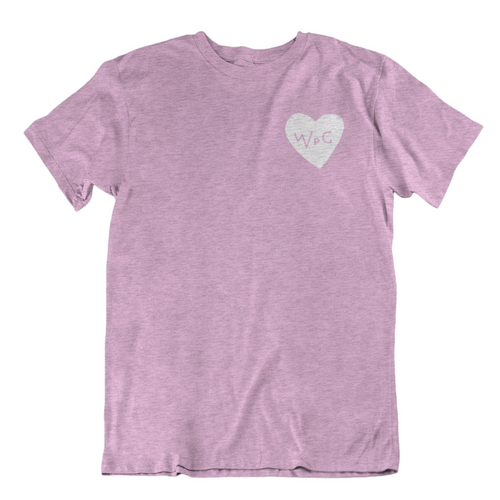 WPG Heart Tee | White on Heather Lilac