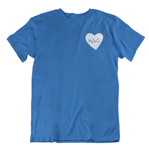 WPG Heart Tee | White on Royal