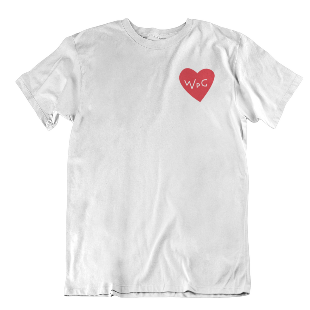 WPG Heart Tee | Red on White