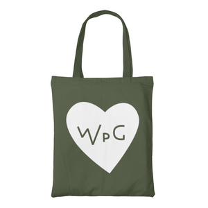 WPG Heart Tote | White on Forest
