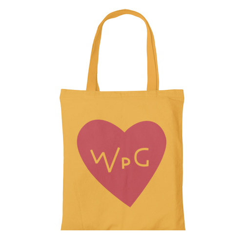 WPG Heart Tote | Red on Gold