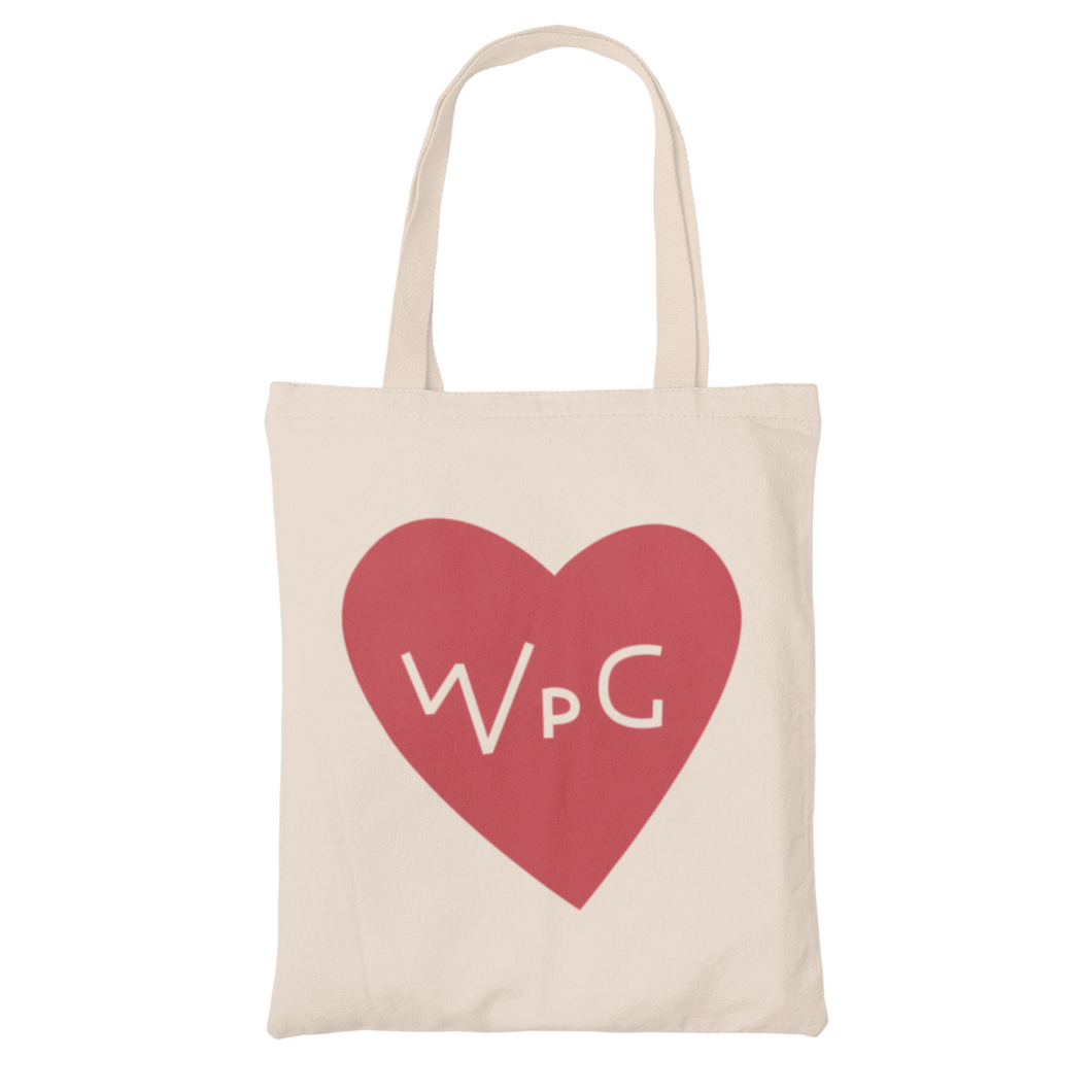 WPG Heart Tote | Red on Natural