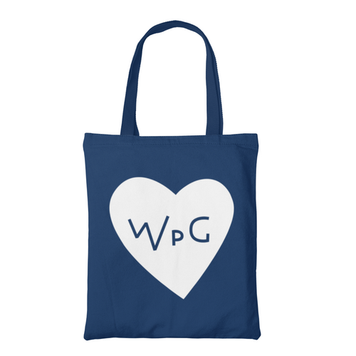 WPG Heart Tote | White on Navy