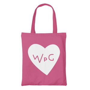 WPG Heart Tote | White on Pink