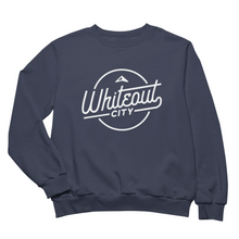 Load image into Gallery viewer, Whiteout City Classic Crewneck | White on Navy