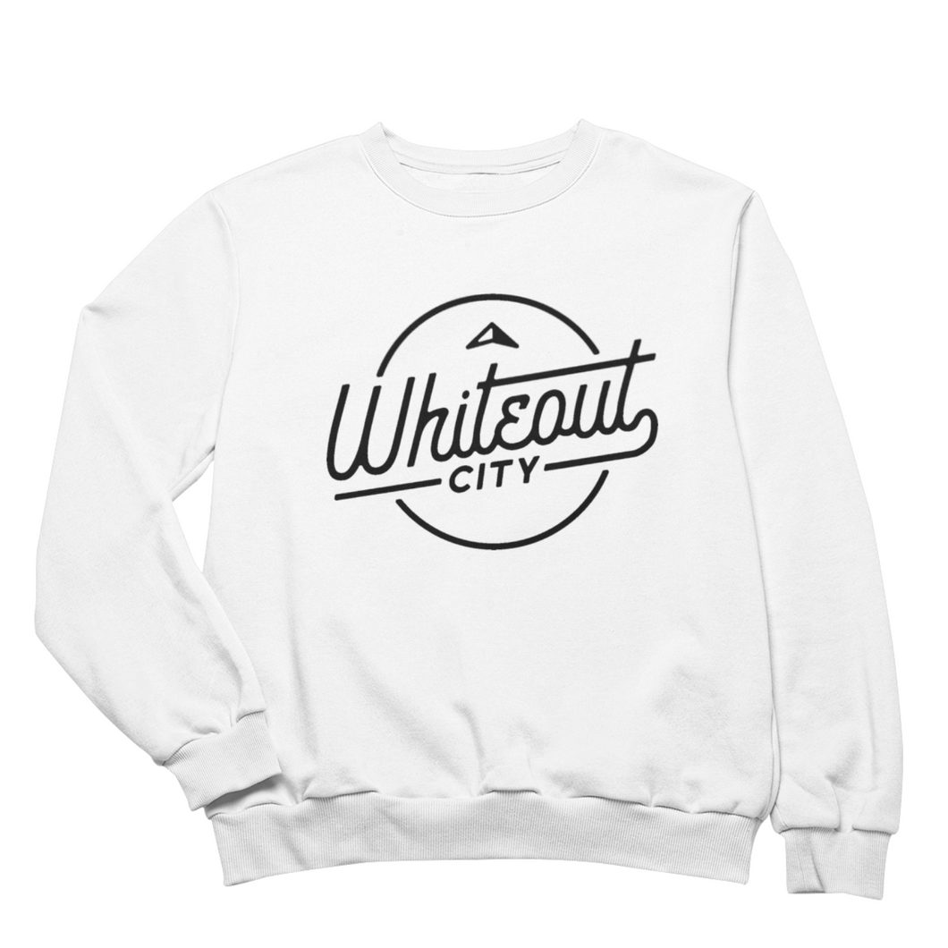 Whiteout City Classic Crewneck | Navy on White