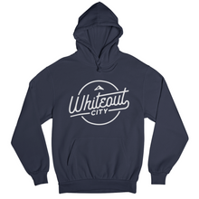 Load image into Gallery viewer, Whiteout City Classic Hoodie | White on Navy