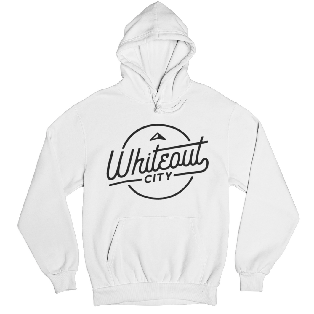 Whiteout City Classic Hoodie | Navy on White