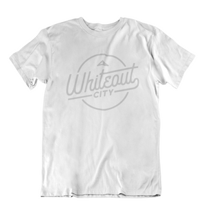 Whiteout City Classic Tee | Silver on White