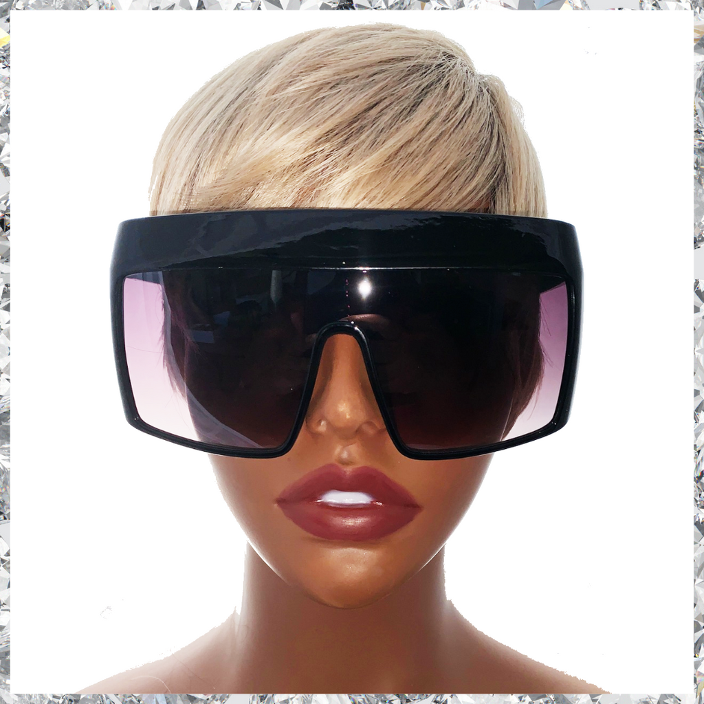 Hater Blockers - Black Frame With Dark to Clear Gradient Lenses Sunglasses - Shady Mama