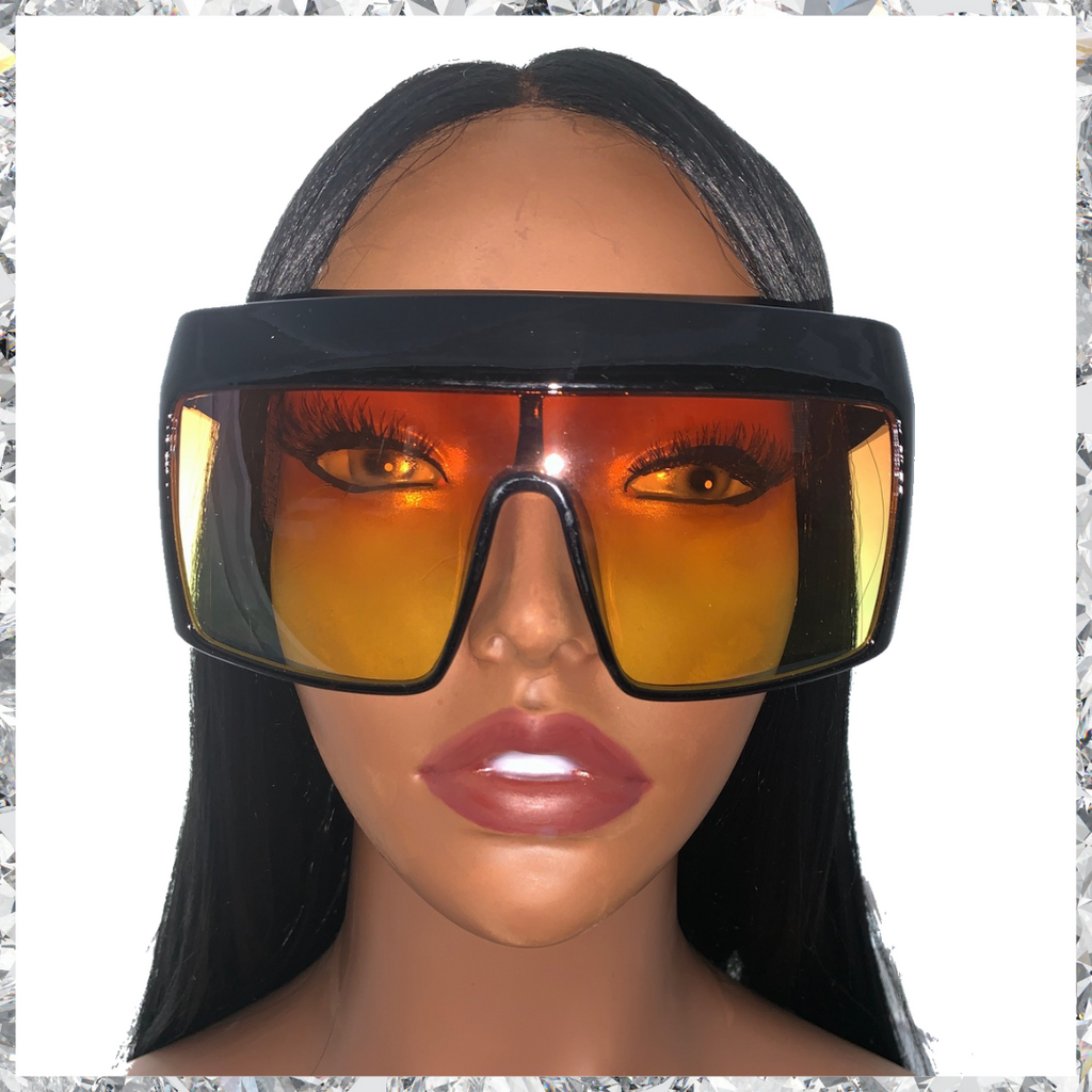 Hater Blockers - Black Frame With Orange to Yellow Gradient Lenses Sunglasses - Shady Mama