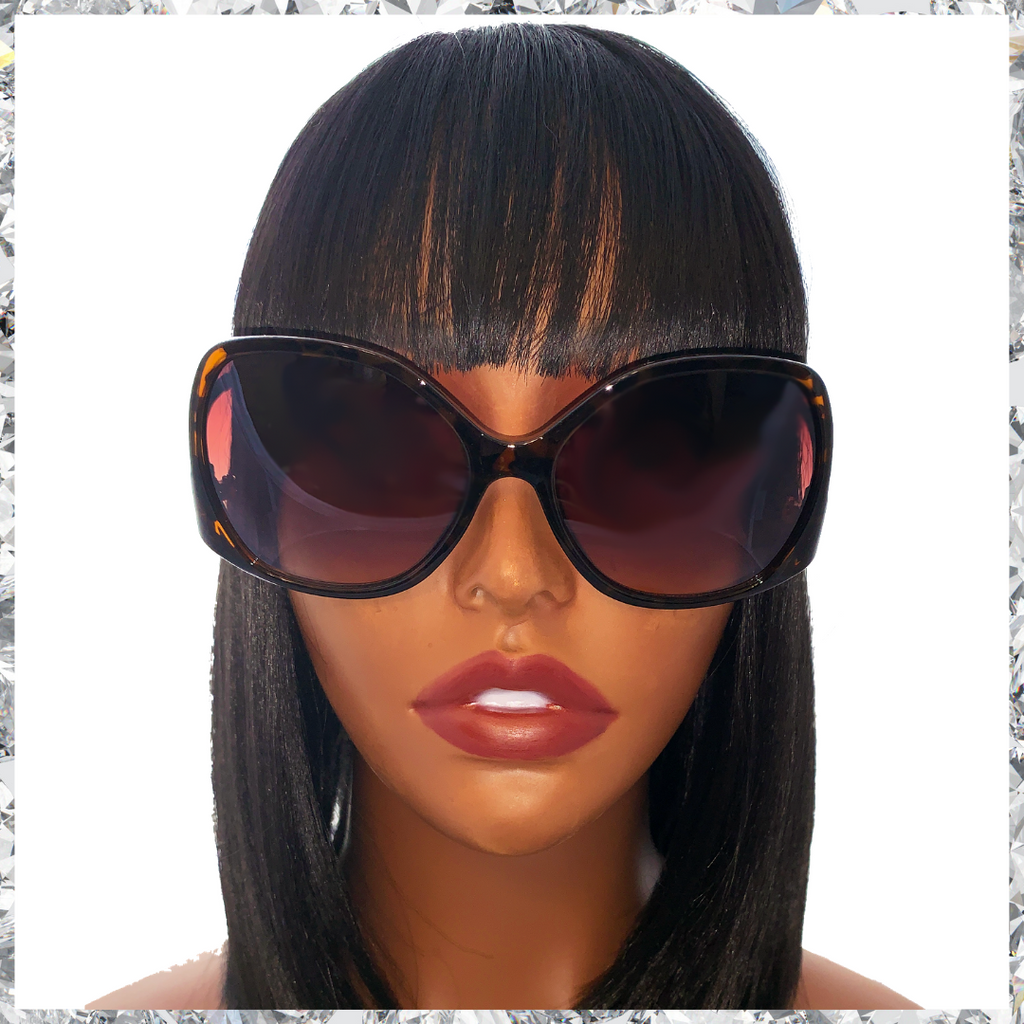 Shady B***h - Tortoiseshell & Gold Frames with Brown Lenses - Shady Mama