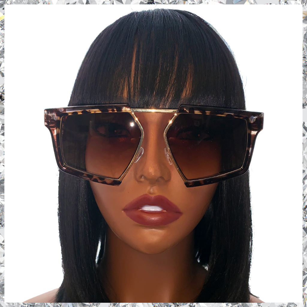 Shady Bae - Leopard & Gold Frames with Brown Lenses Sunglasses - Shady Mama