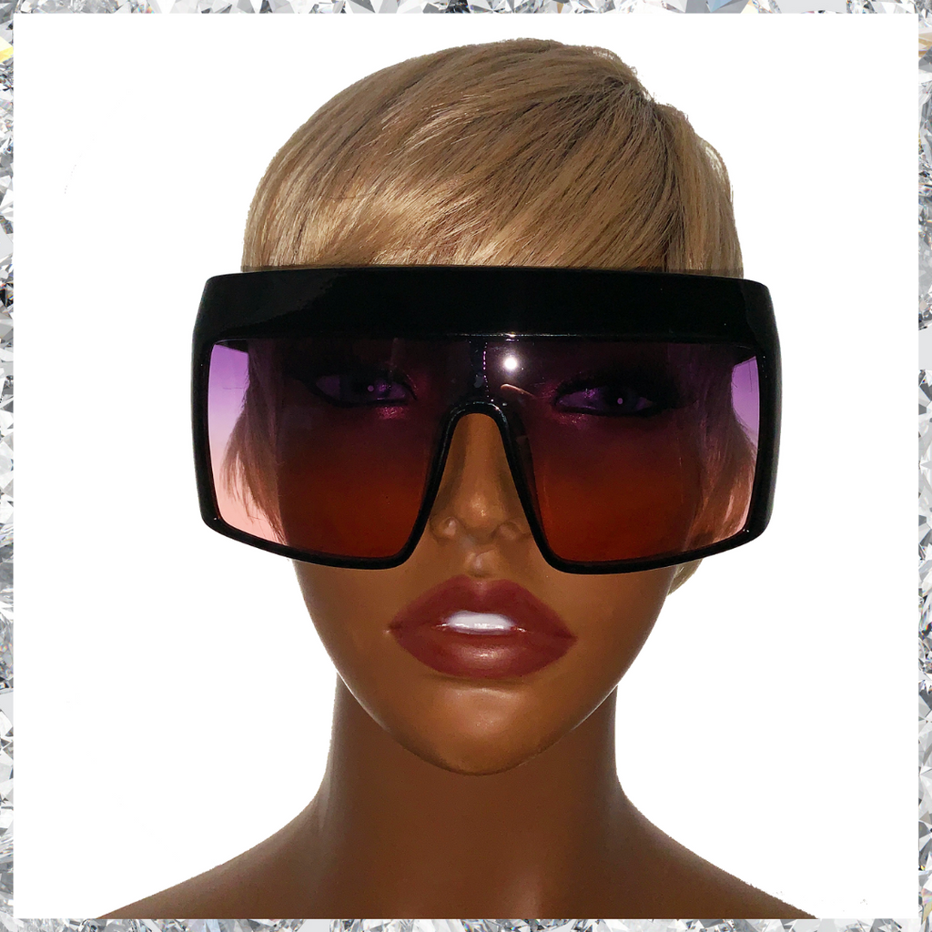 Hater Blockers - Black Frame With Purple to Orange Gradient Lenses Sunglasses - Shady Mama