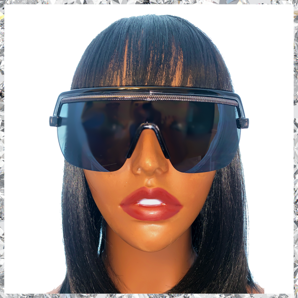 Jordy - Black Frames with Gunmetal Trim and Black Lenses Sunglasses - Shady Mama