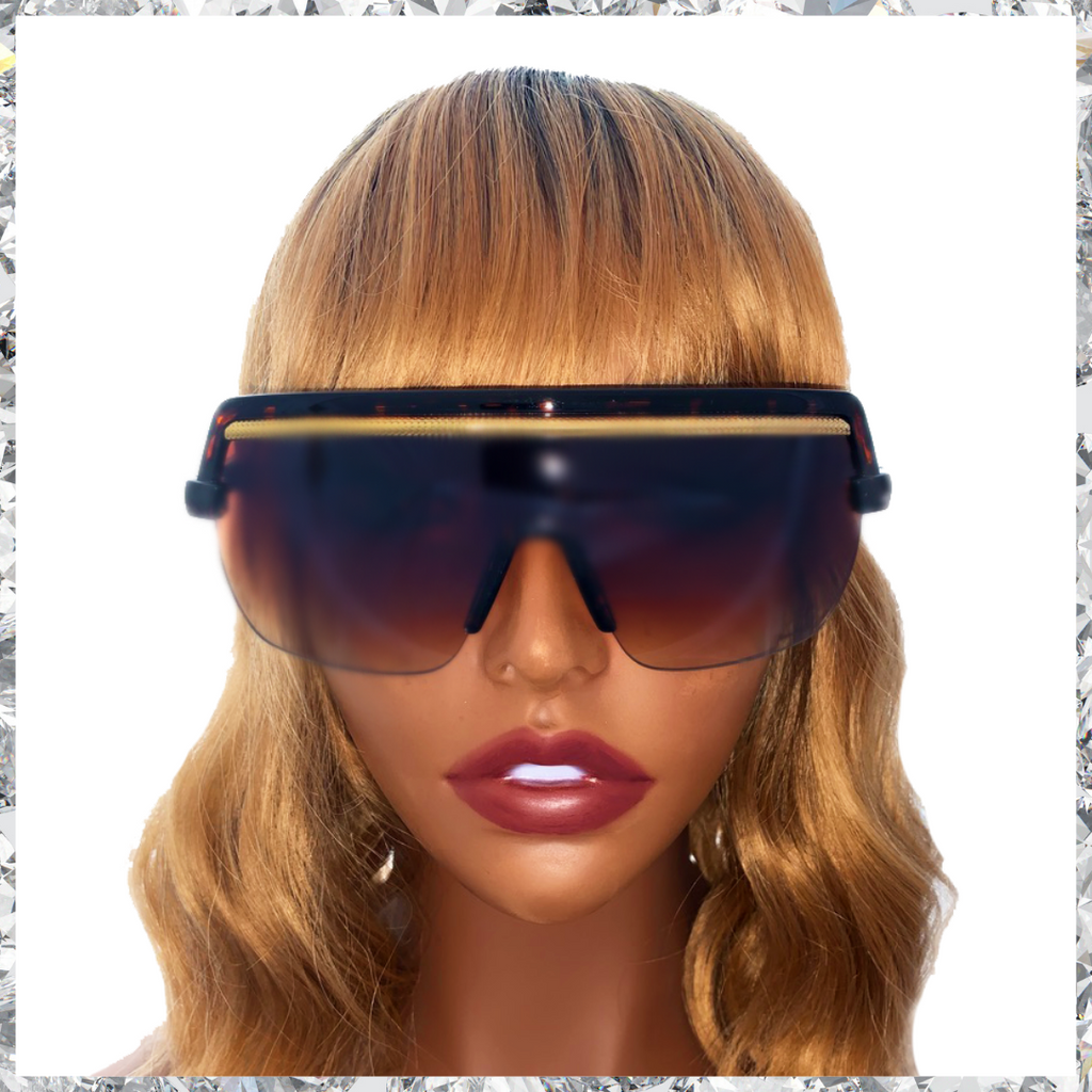 Jordy - Tortoiseshell Frames with Gold Trim and Black to Brown Gradient Lenses Sunglasses - Shady Mama