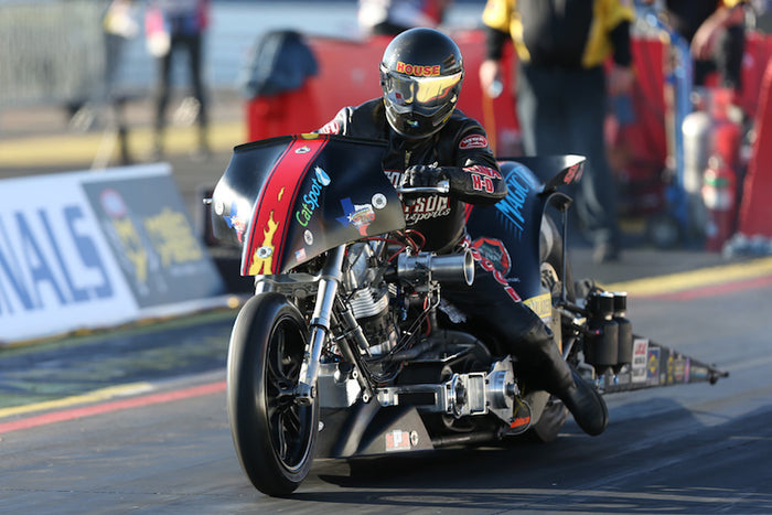Historic value of 50th Gatornationals not lost on Top Fuel Harley rider Rickey House