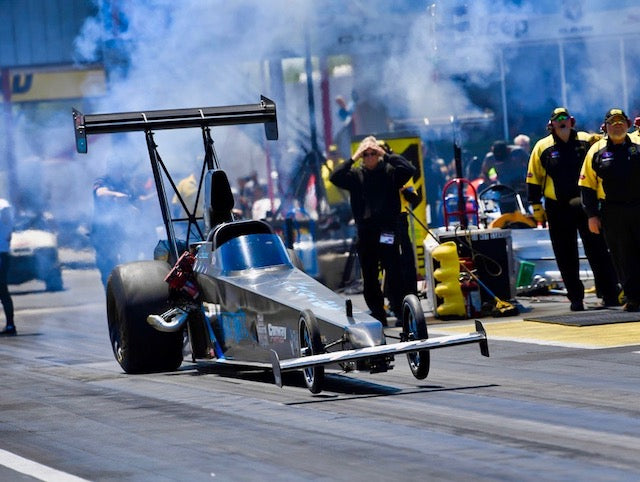 Shane Conway keeps on slaying giants in his Magic Dry Top Alcohol Dragster