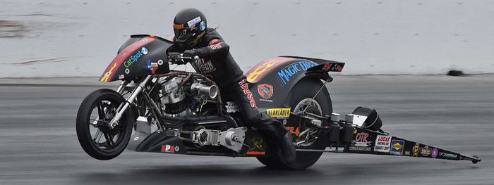 Magic Dry's Rickey House knocks off Top Fuel Harley series leader Doug Vancil with career-best pass