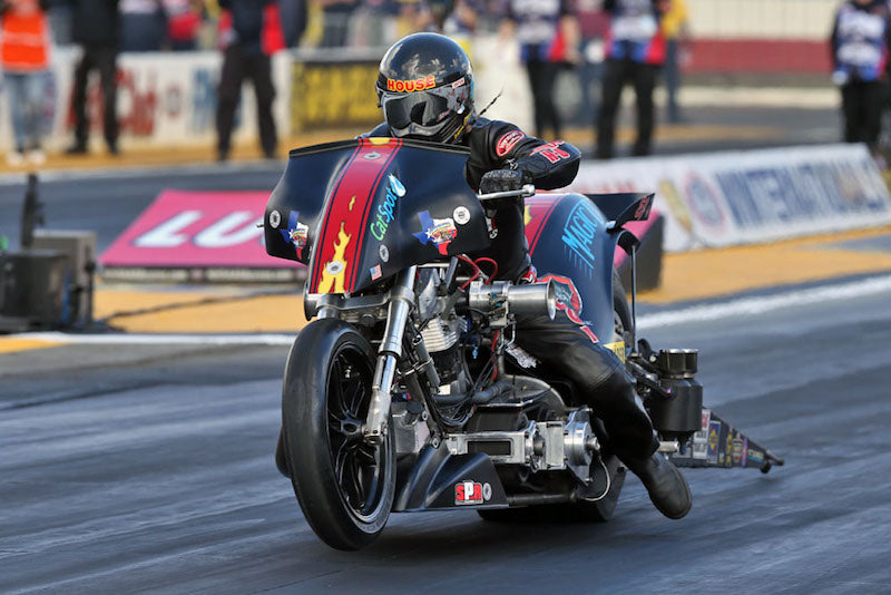 The Magic Dry Top Fuel Harley piloted by Rickey House