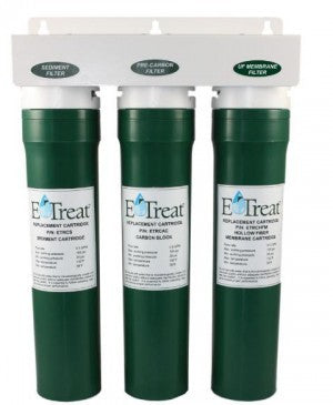 Watts E-Treat Ultra Filtration Drinking Water System - Quick Twist Triple Cartridge