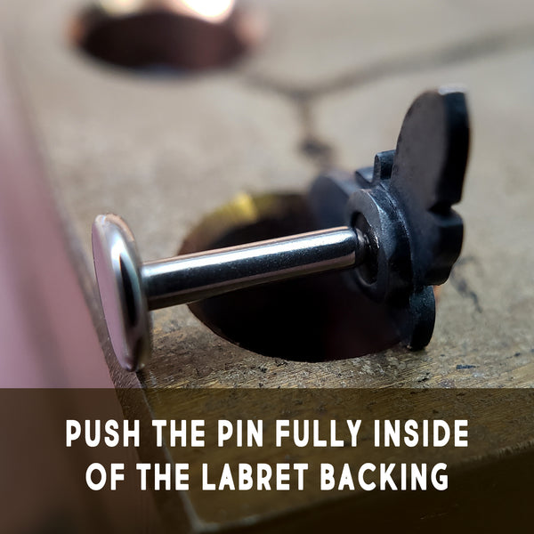 push the top into the backing fully
