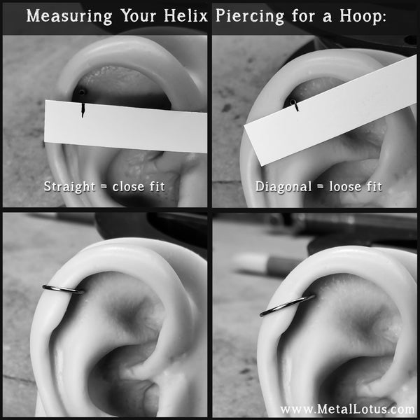 how to measure helix piercing