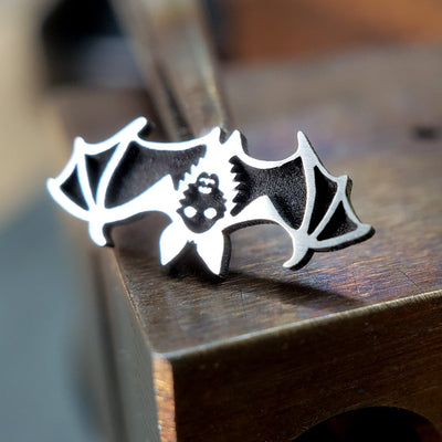 Metal Lotus Nose Stud Silver Bat Nose Stud